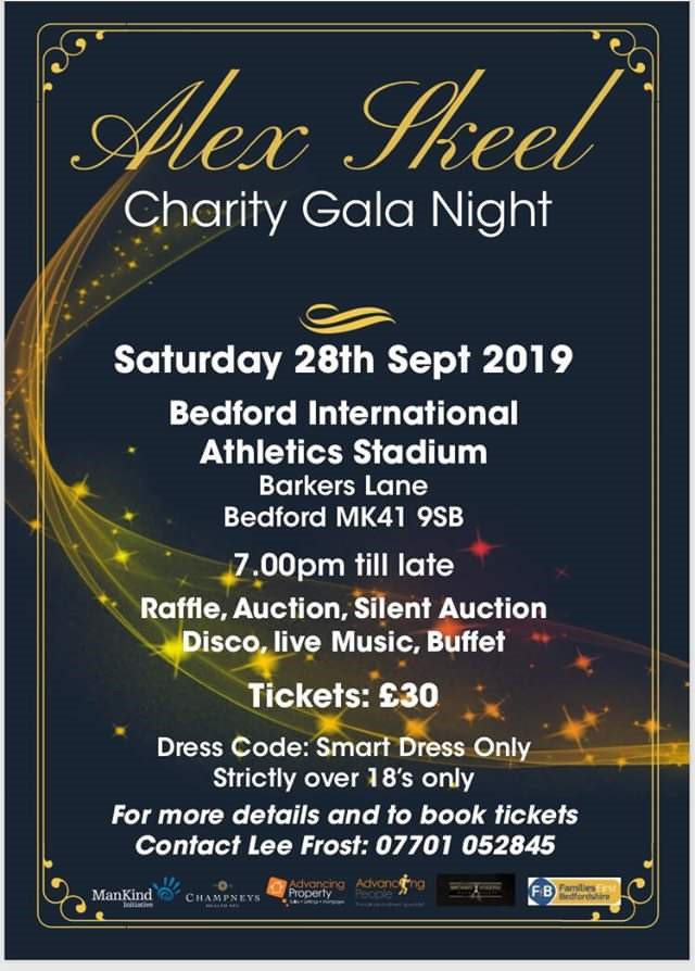 Alex Skeel Charity Gala Night in aid of Families First Bedfordshire & ManKind