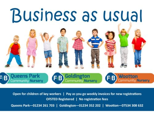 FfB Nurseries are STILL open!